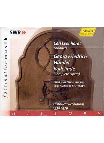 AUDIO-CD: HÄNDEL - RODELINDE HISTORICAL RECORDINGS 1938-39