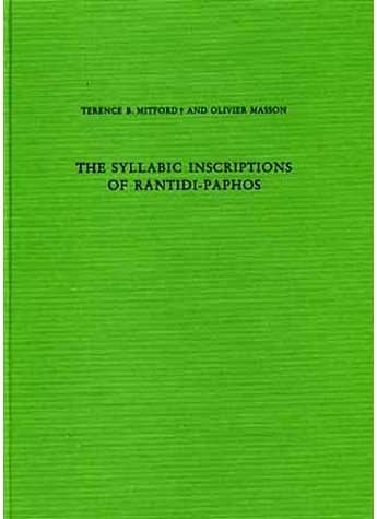 MITFORD: THE SYLLABIC INSCRIPTIONS OF RANTIDI-PAPHOS