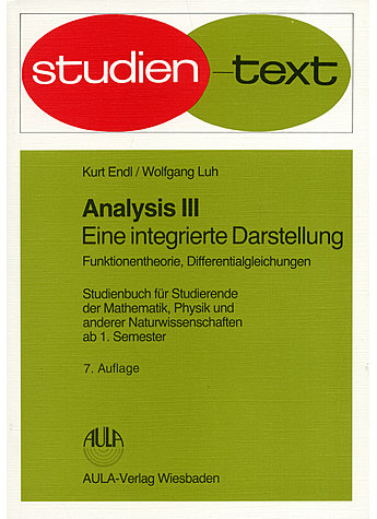 ENDL, ANALYSIS III (M) (315- 00916)