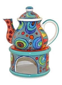 indische teekanne mit st vchen aus keramik glas geschirr k che haushalt haushalt garten. Black Bedroom Furniture Sets. Home Design Ideas
