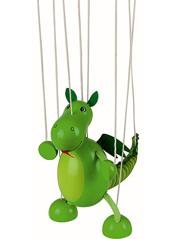 MARIONETTE DINOSAURIER AUS HOLZ