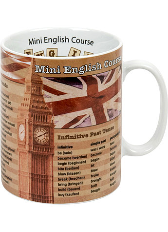 PORZELLAN-BECHER MINI ENGLISH COURSE