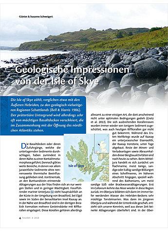 Geologische Impressionen Von Der Isles Of Skye