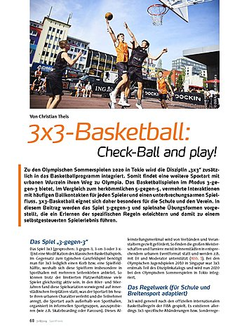 3x3-BASKETBALL: CHECK-BALL AND PLAY!